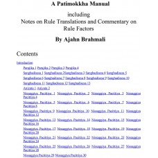 A Patimokkha Manual -  Including Notes on Rule Translations and Commentary on Rule Factors